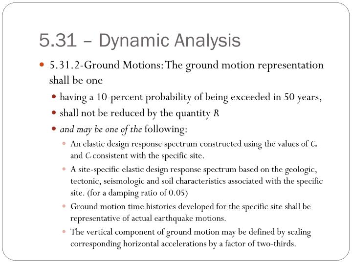 5.31 – Dynamic Analysis