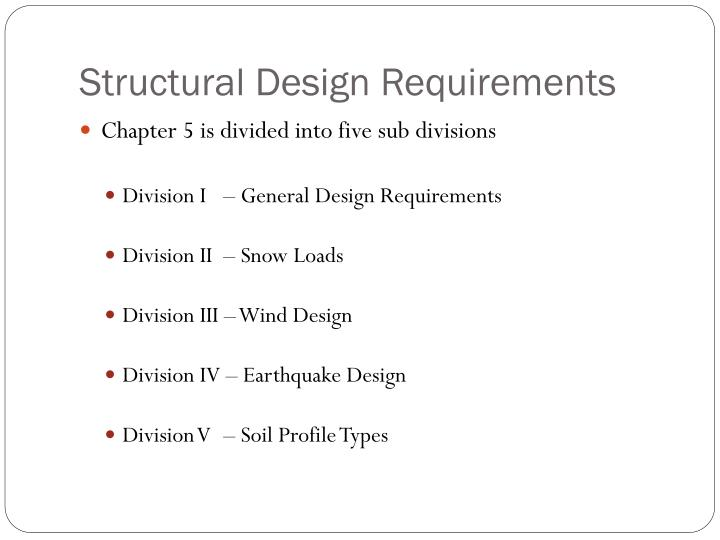 Structural Design Requirements