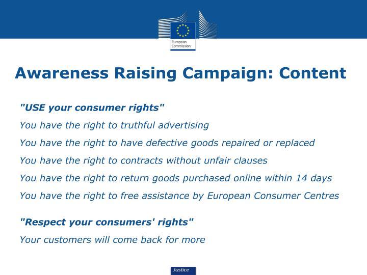 Awareness Raising Campaign: Content