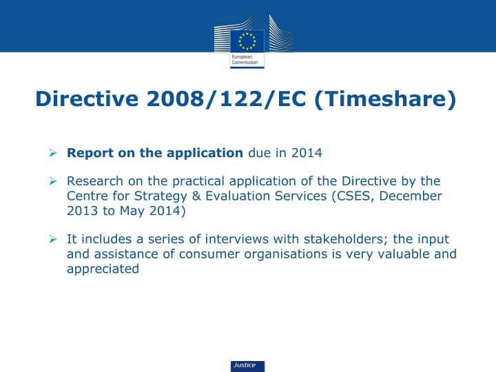 Directive 2008/122/EC (Timeshare)