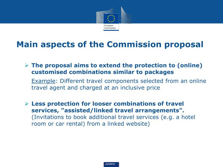 Main aspects of the Commission proposal