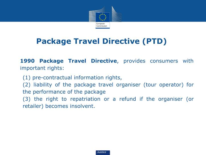 Package Travel Directive (PTD)