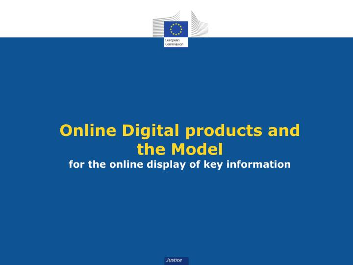 Online Digital products and
