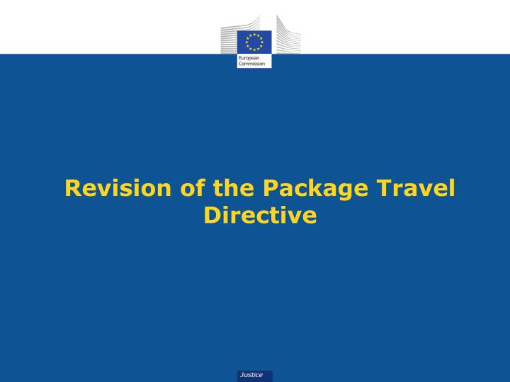 Revision of the Package Travel Directive