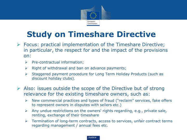 Study on Timeshare Directive
