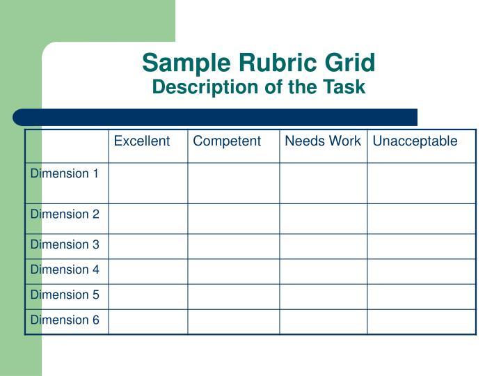 Sample Rubric Grid