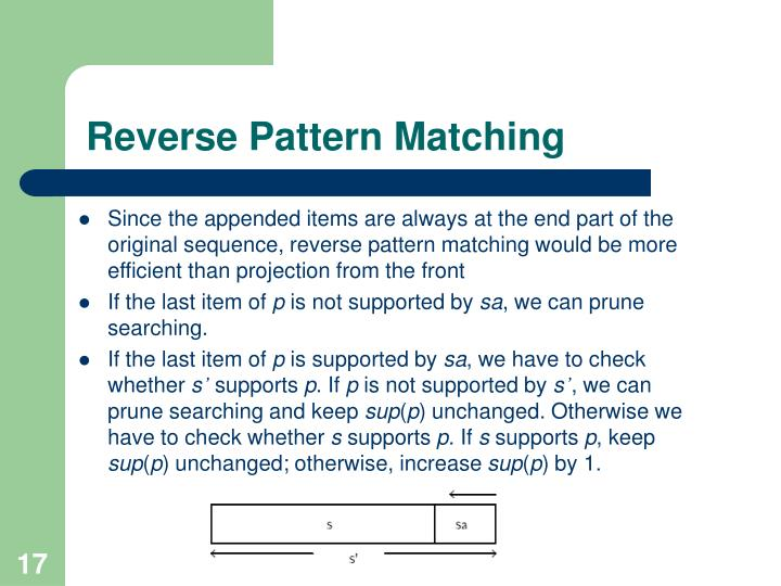 Reverse Pattern Matching