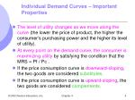 individual demand curves important properties