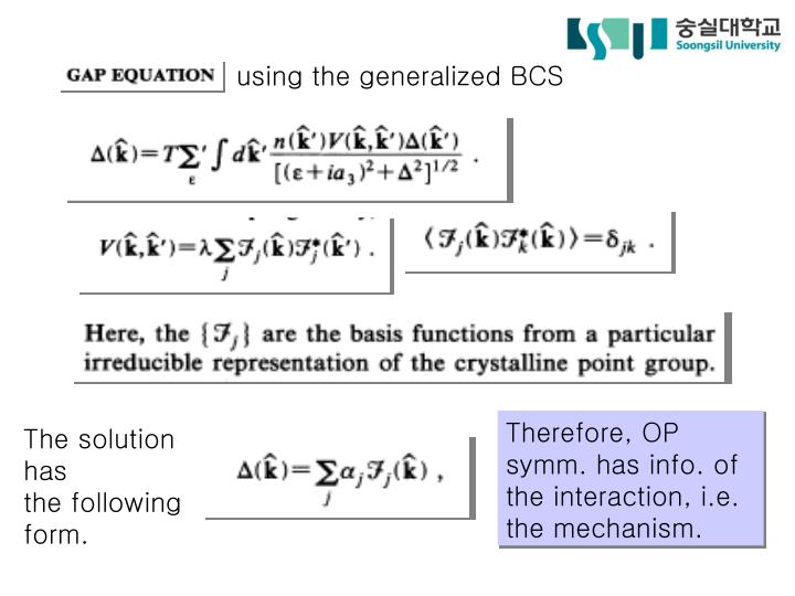using the generalized BCS