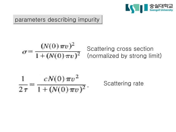 parameters describing impurity