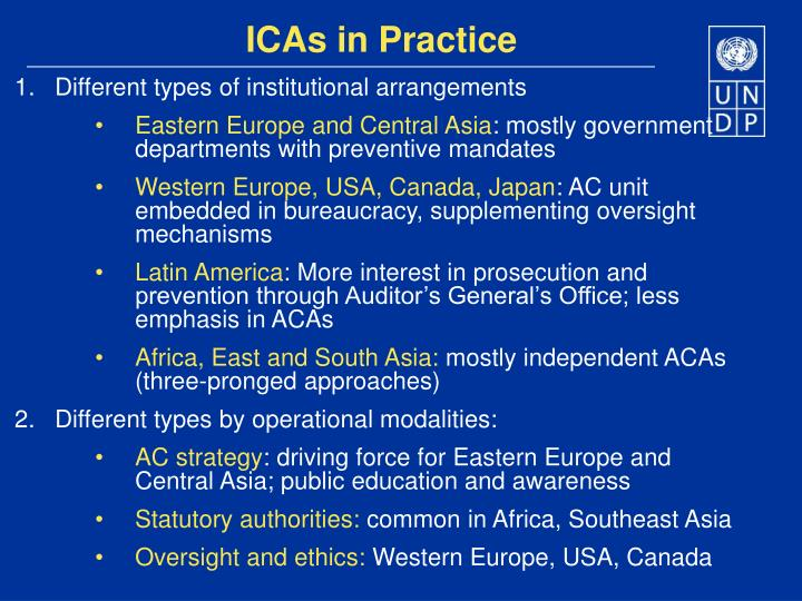 ICAs in Practice