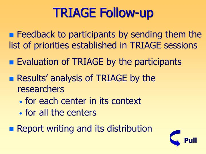 TRIAGE Follow-up