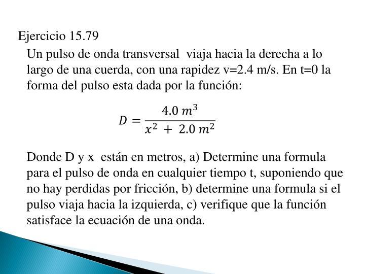 Ejercicio 15.79