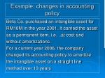 example changes in accounting policy