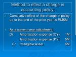 method to effect a change in accounting policy