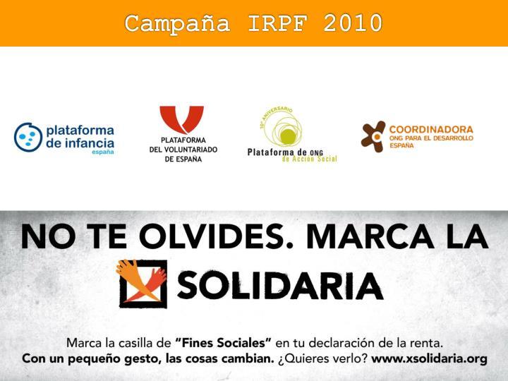Campaña IRPF 2010