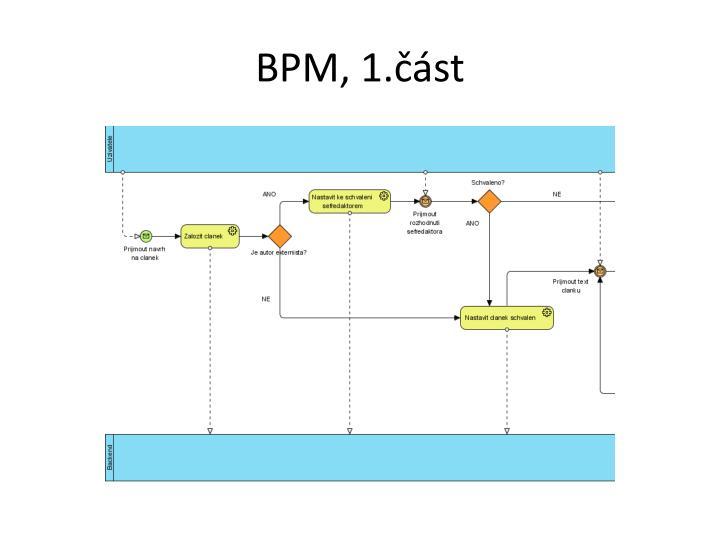 BPM, 1.část