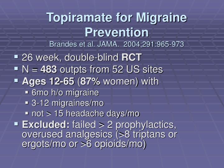 Topiramate for Migraine Prevention