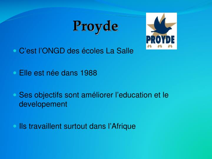 Proyde