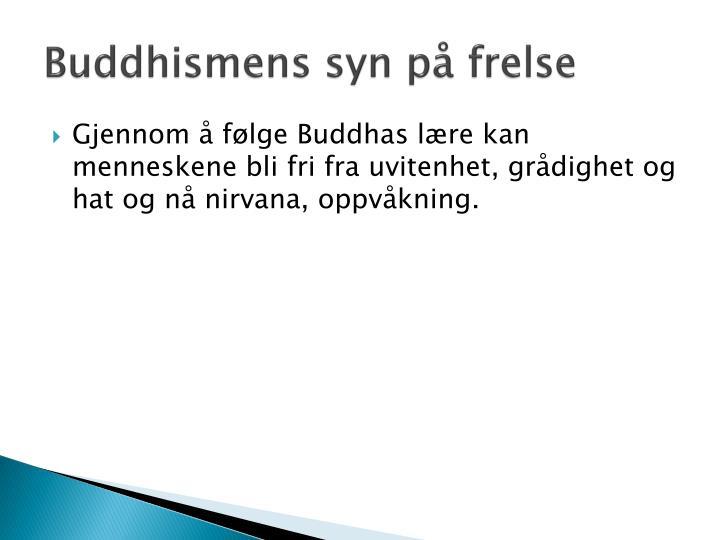 Buddhismens syn på frelse