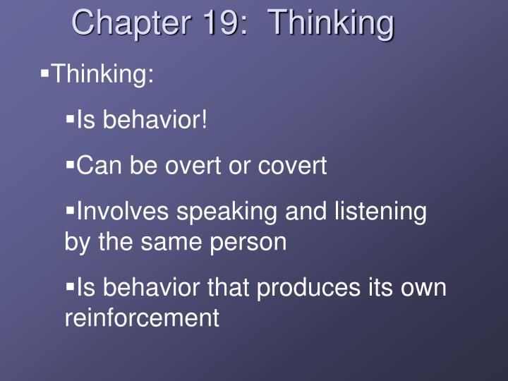 Thinking: