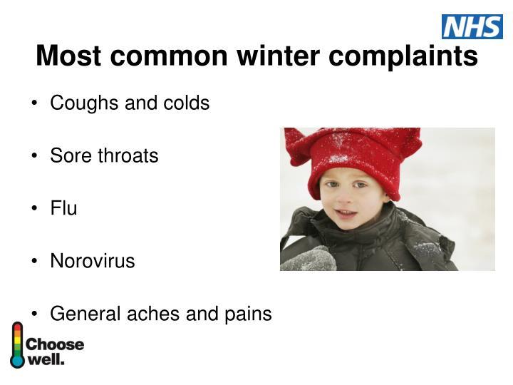 Most common winter complaints