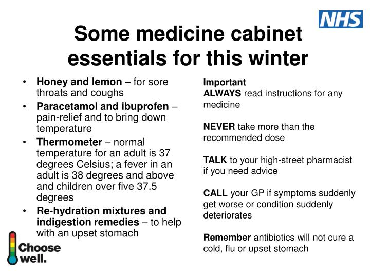 Some medicine cabinet essentials for this winter
