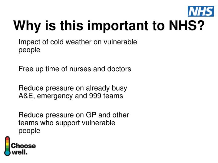 Why is this important to nhs
