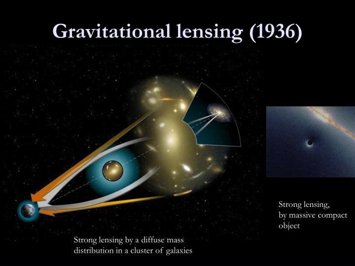 Gravitational lensing (1936)