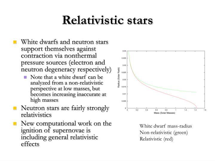 Relativistic stars