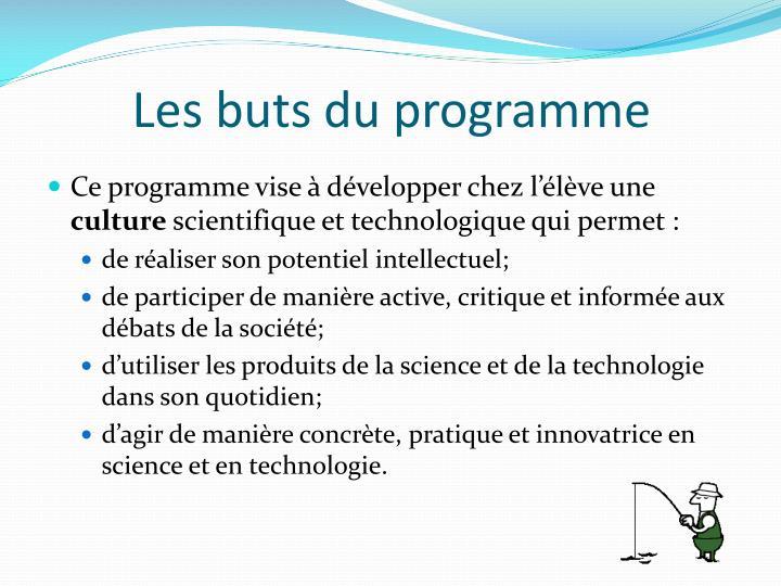 Les buts du programme