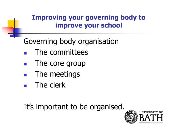 Improving your governing body to improve your school