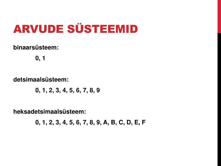 Arvude süsteemid