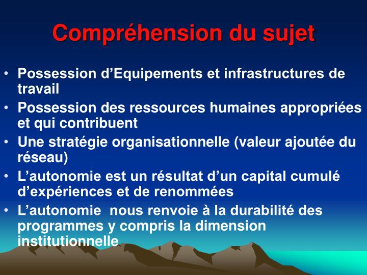 Compr hension du sujet1
