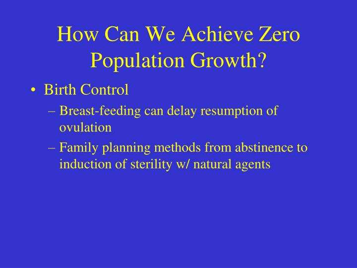 ways to control population growth