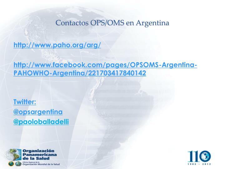 Contactos OPS/OMS en Argentina