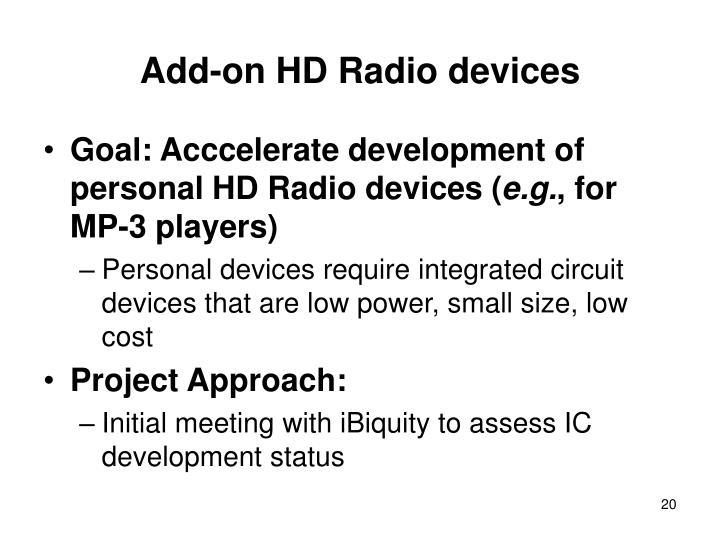 Add-on HD Radio devices