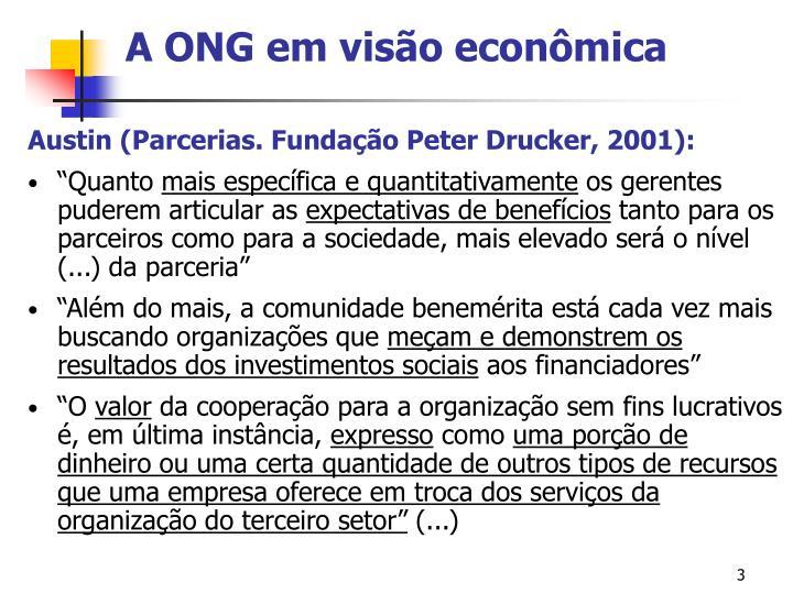 A ONG em visão econômica