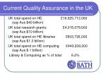 current quality assurance in the uk2