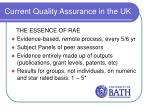 current quality assurance in the uk5