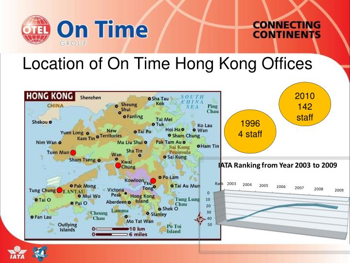 Location of On Time Hong Kong Offices