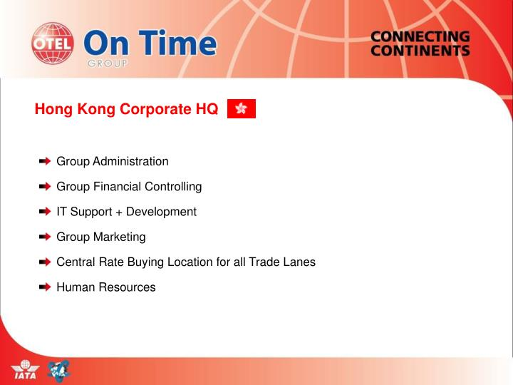 Hong Kong Corporate HQ