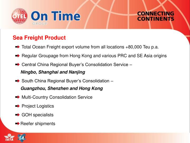 Sea Freight Product