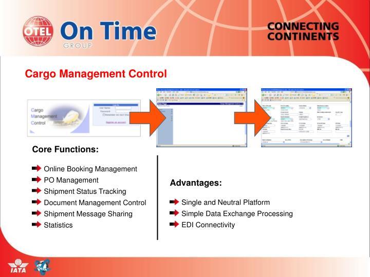 Cargo Management Control