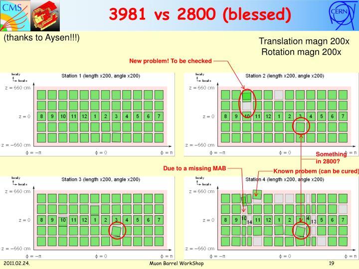 3981 vs 2800 (blessed)