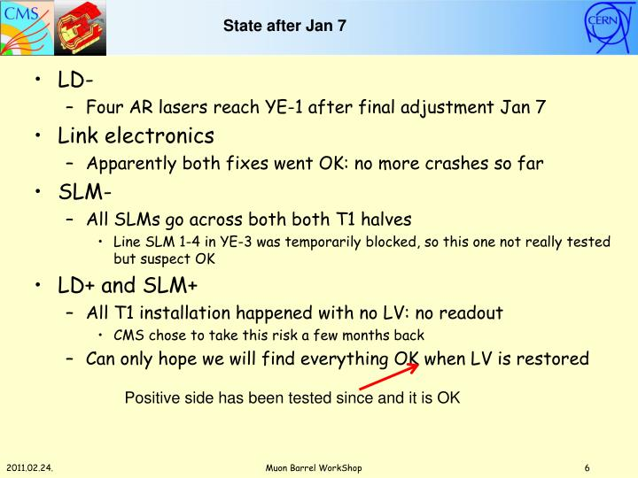 State after Jan 7