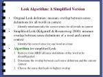 lesk algorithm a simplified version