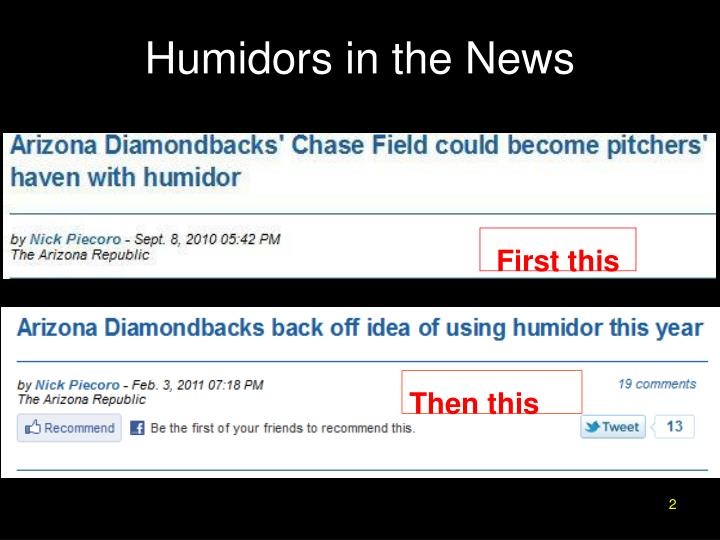 Humidors in the news