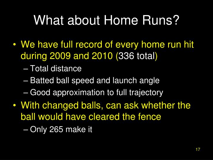 What about Home Runs?