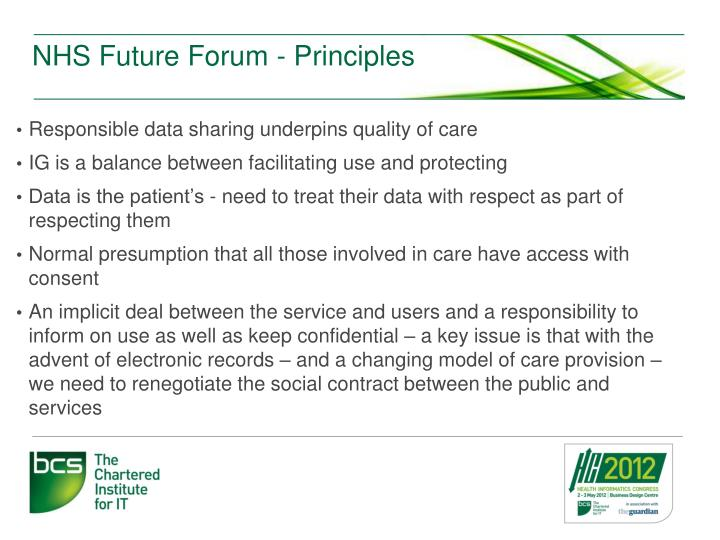 NHS Future Forum - Principles